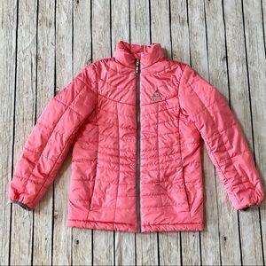 GERRY Girls Puffer Jacket 14/16 Pink Full Zip